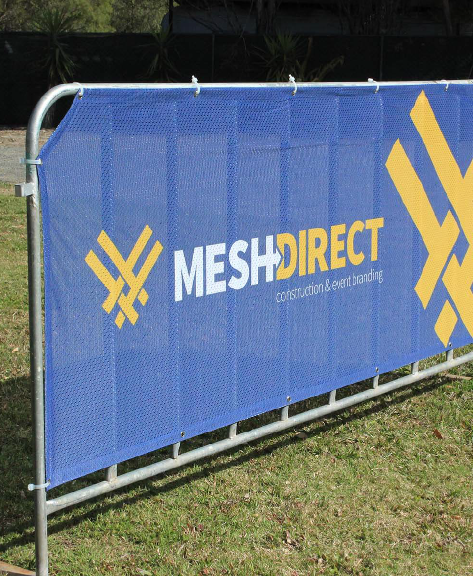 Crowd Control Barrier Signs – Single Sided – Polyester Mesh
