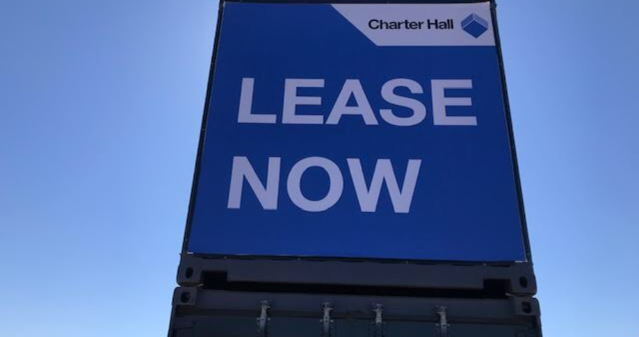 Charter Hall Vinyl container signage