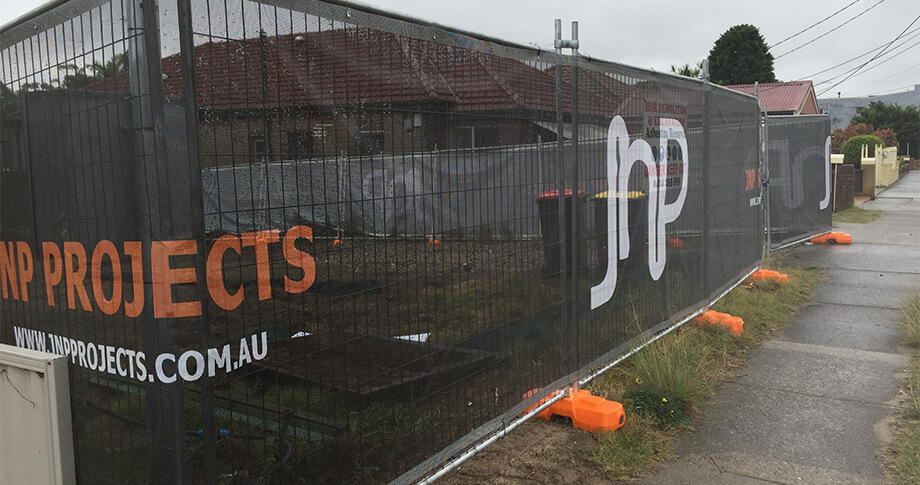 Fencing Wrap for JNP Projects